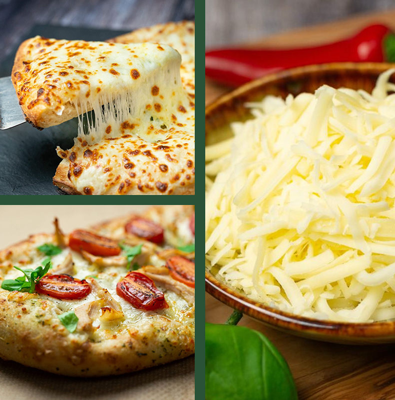 Grated Pizza Cheese collage